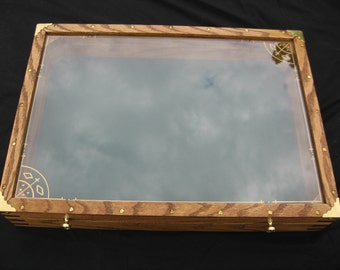 Handcrafted Table Top Display Cabinet