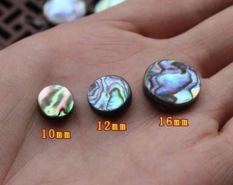 10pcs Black Mother of Pearl Shell Round cabochos - natural mother of pearl beads - MOP beads for jewelry design(BK1041)