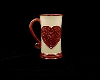 Stoneware Heart Mug