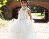 Flower Girl Dress Ivory T...