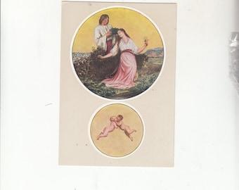 "C1940-50 Beautiful Artistry Postcard-Prague-Sign Of The Zodiac-GEMINI-Unused-4"" X 6"""