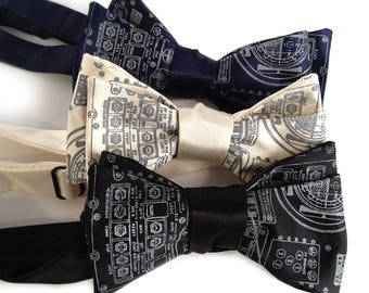 Astronaut Bow Tie. Apollo Cockpit Controls Print. Space Exploration men's bowtie. Gift for space enthusiast, geek gift, NASA nerds, engineer