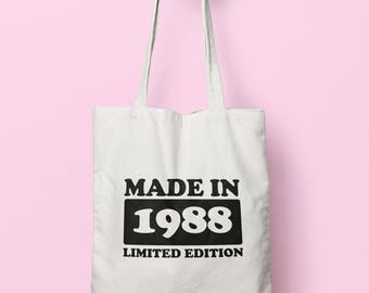 Made In 1988 Limited Edition Tote Bag Long Handles TB1751