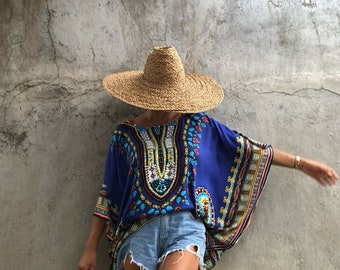 Bohemian, beach poncho beach festival boho top  ,summer tunic Oversize ,Holiday, Poncho ,Loose  fit