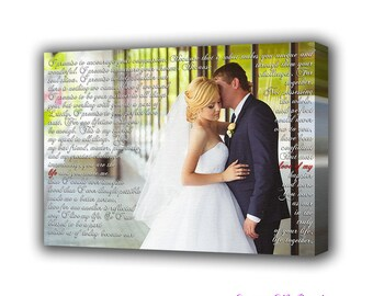 First dance song, Our song art, personalized, photo on canvas, anniversary gift, gift for her, wedding song, cotton anniversary, first dance