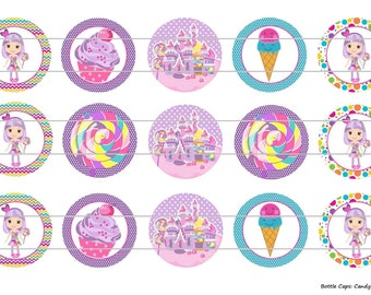 """15 Inspired Candy Girl 2 Digital Download for 1"""" Bottle Caps (4x6)"""
