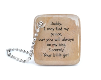 Personalized Key chain for dad, new dad gift, custom wood keychain, gift for dad, gift for father