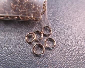 14K Gold Filled 4mm Open Jump Rings 10pcs
