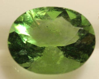 Fluorite Green 2.427cts Oval Cut 9.70 x 7.70mm H4 Belgium y9379 Green Gem Loose Faceted Gemstone Collector Gemology Gemological