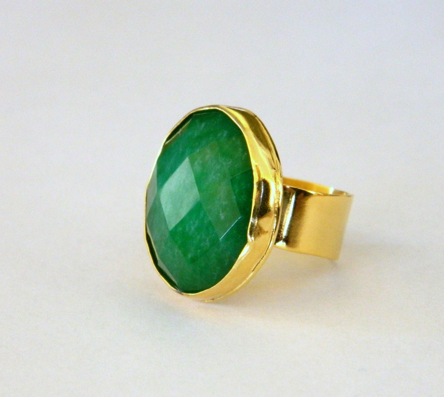 gold plated cz with ring rings gemstone green gre studded jewelry exclusive large