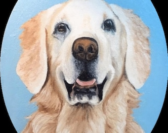 "Custom pet portrait (12""x16"")"