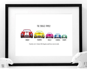 Family Cars - Fully personalised