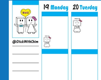 Bow Robot Girl Impatient Hurry Up!   Cute Planner Stickers   Perfect for planners and calendars   R2020