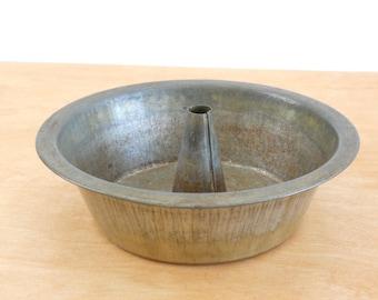 Vintage Bundt Pan • Simple Utilitarian • Sponge Cake Pan