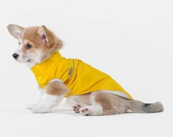 Light jacket for puppy, light jacket for dog, dog wear, clothes for dog,rain jacket for dog, jacket for corgi, giftdog clothes