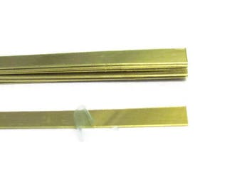 1/4 x 6  Brass Rectangle  Blanks - 22 gauge -bracelet blanks - Hand stamping metal blanks