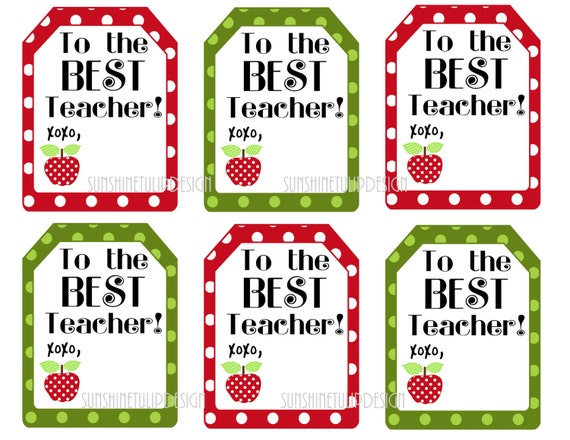 Sassy image pertaining to printable teacher gift tags