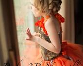 Orange Camo Flower Girl T...