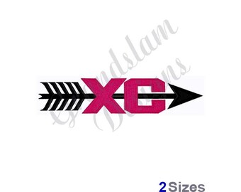 Cross Country Logo - Machine Embroidery Design