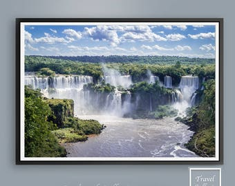 Iguassu falls Waterfall Printable Wall Art Decor - Brazil / wanderlust / Travel Pictures / South America / Prints / Print