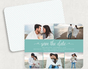 Blue Save the Dates, Photo Save the Dates, Blue Save the Date Magnets, Photo Save the Date Magnets, Printable Save the Date Postcards, PDF
