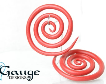 Red Gauged Spirals