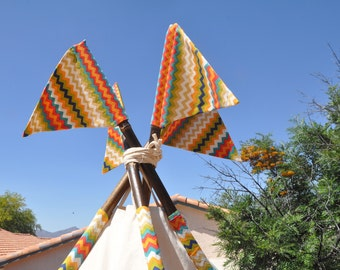 Add flag on your teepee