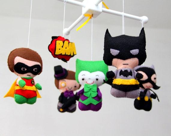 Móvil de bebé cuna móvil-Super Hero Super Heroes móvil-vivero