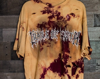 Cradle of Filth - Distressed shirt - Custom band shirt - Metal - Reworked band tee - Distressed - Punk Rock - Shredded Dreams - X-Large
