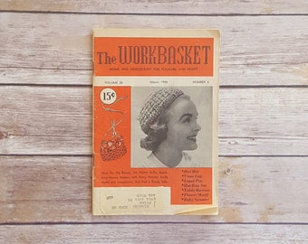 Crocheted Flower Pattern Tablecloth Instructions Delicate 50s Crafts Baby Sweater Knit Pattern Workbasket 1955 Womens Periodical Needlecraft