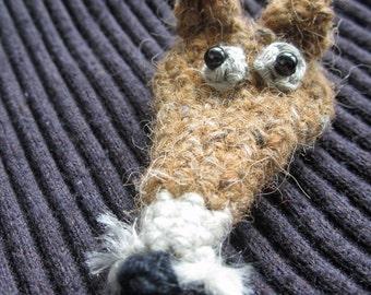 Dijon the Fox Crocheted Brooch