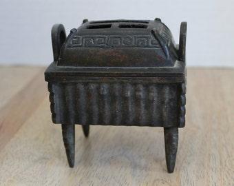 Antique Chinese Bronze Censer, Incense Burner, Covered Incense Burner