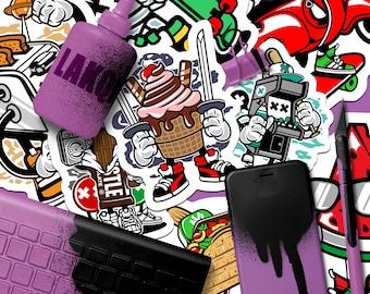 500 Promotional Stickers | Marketing Stickers, Full Color Stickers, Skateboard Stickers, Outdoor Stickers, Sticker Bomb, Custom Stickers