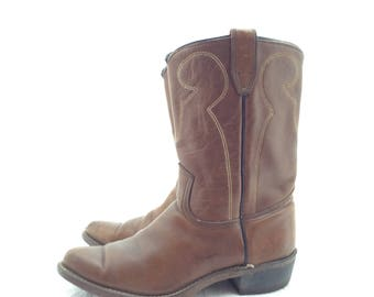 50s 60s cowboy boots size 7