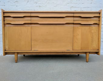 Mid Century Modern Crawford Solid Maple Buffet
