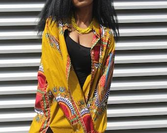 African Shirt Dress Boyfriend Shirt Bohemian Clothing Festival Clothing Afro Punk Ankara Dress Oversized Shirt Dashiki Dress Festival