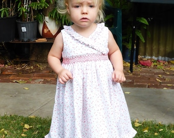 Size 2 Hand Smocked Dress