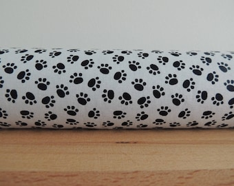 Animal paw print draft stopper. kids room decor. Door or window snake. Draught excluder. House and home accessory.eco friendly energy saver