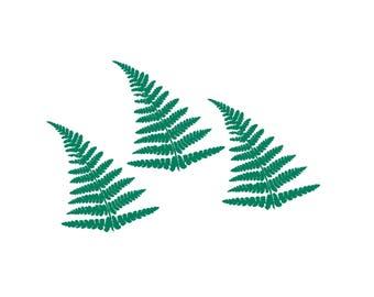 Iron on fern leaf flex appliqués