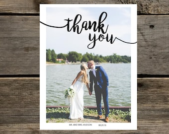 Wedding thank you card. Custom info and image.