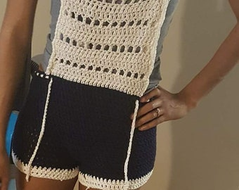Crochet Overalls Cover Up