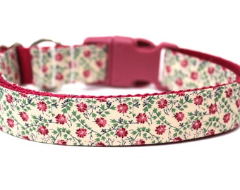 "Fall Dog Collar 1"" Floral Dog Collar"
