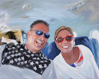 Custom Painting - Personalized Art Family Portrait on Canvas from Photo
