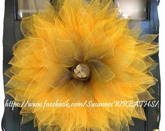 Large Sunflower Wreath