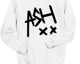 White Ash XX Sweatshirt, Ultra Soft Trendy Fashion Sweater, Fangirl Shirt, Gift for Teen Girl Sweatshirt, White, Tumblr