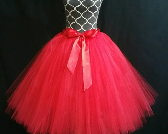 FULLY LINED red children to adult Tutu** Bridal part skirt/ Tulle costumes/ Adult tutu (33 colors available)