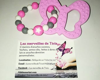 """""""Butterfly"""" silicone teething ring"""