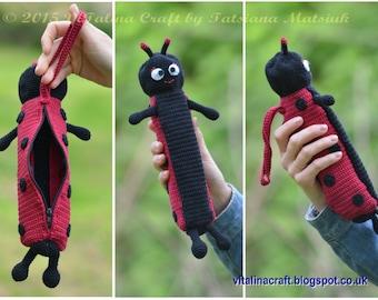 Crochet Pattern - Ladybird Umbrella Case