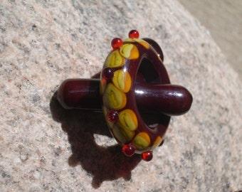 Handmade lampwork glass bead Toggle Set by JudyDalyReganti - Mochalicious Brown Tones Toggle Set