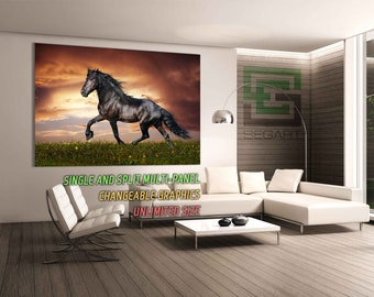 Horse Gallery Wrapped Canvas Large Print Large Canvas split art Living Room Decor Wall Poster Giclee Print Canvas Art Canvas Print